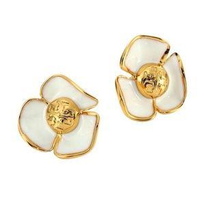 Tory Burch earrings white flower earrings